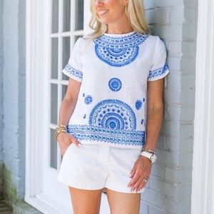 Tommy bahama embroidered top